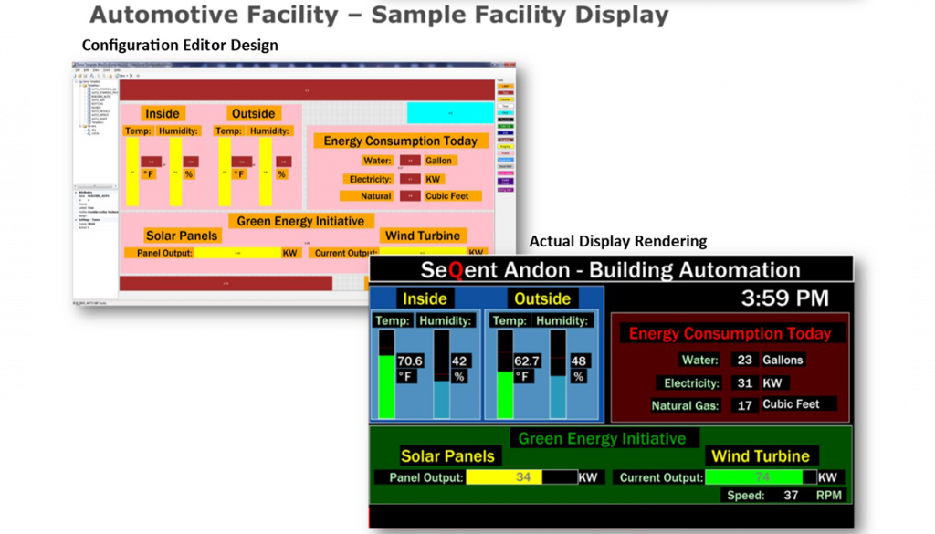 Andon system software Sample Screen 1