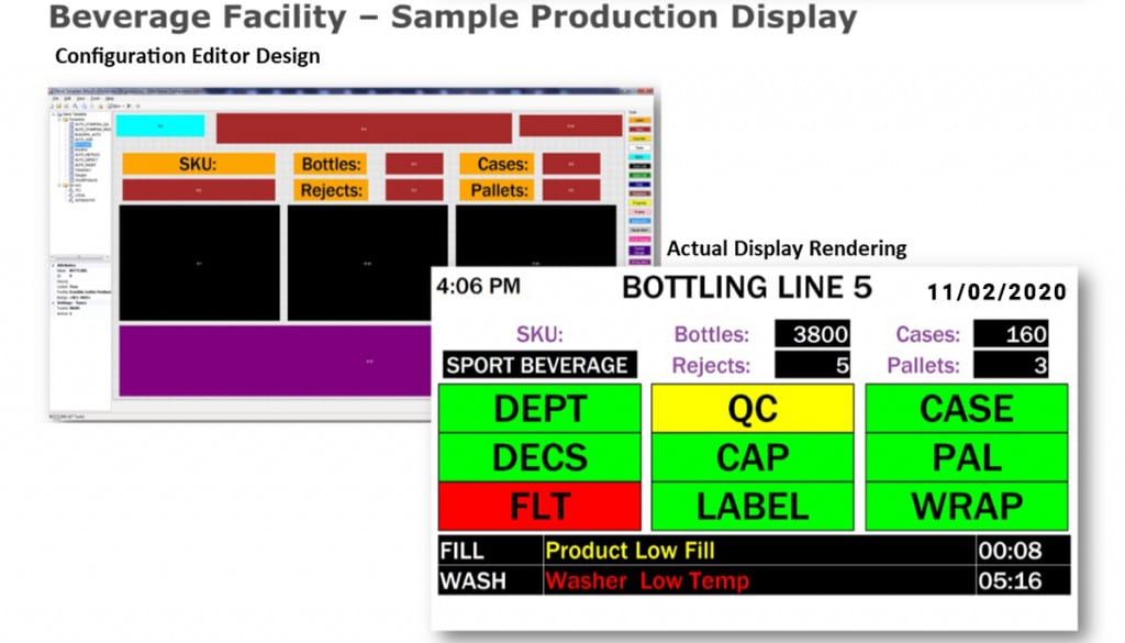 Andon system software Sample Screen 2